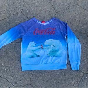 Official Coca Cola Branded Polar Bear Sweatshirt